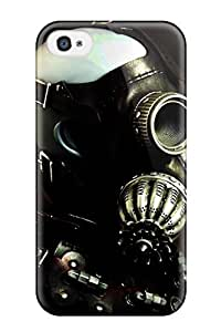 Hot Tpye Gas Mask Dark Abstract Dark Case Cover For Iphone 4/4s