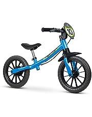 Bicicleta, Nathor, Aro 12, Balance Bike Masculina, Azul,