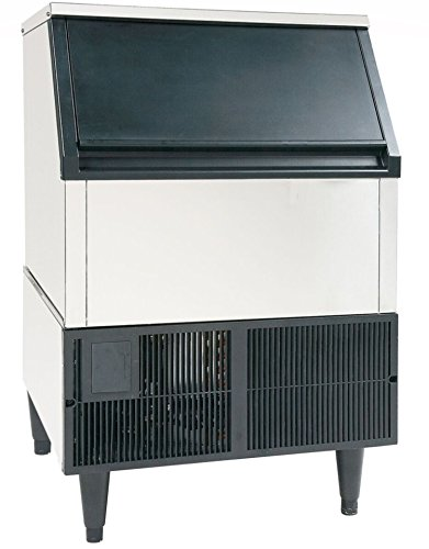 Self Contained Ice Machine (JET JIM260 Commercial Restaurant Kitchen Self Contained Stainless Steel Clear Ice Maker Machine Produces 260 Pounds of Ice Per Day Use Freestanding Undercounter Built-In, 24-Inch Wide, Silver)