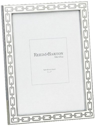 Amazon.com - Reed & Barton Silver Link 5 by 7-Inch Frame, White ...