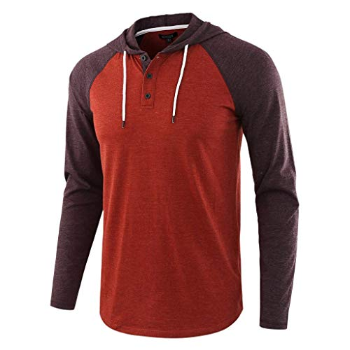 KYLEON_Men's Tops Men's Short Sleeve Pullover Hoodie Lightweight Soft Jersey Hooded T-Shirt