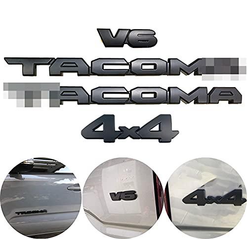 자동 안전 블랙 아웃 엠블럼 오버레이 키트 호환 2016-2021 타코 ABS 플라스틱(2TACO+V6+4X4)