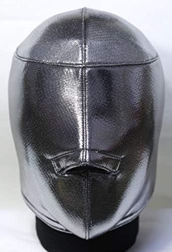 【マスクキット】 マスク作れマスク /銀メタリック(フルマウス)/プロレス、覆面、パーティーマスク