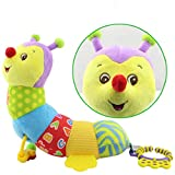 Leaflying Music Toys Babies, Musical Caterpillar Toy Baby Rattles Teether Soft Colorful Worm