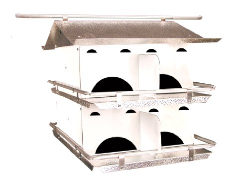Birds Choice 2-Floor-8 Room Purple Martin House with Star...