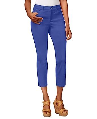 3b07eb1e4d3 Charter Club Women s Petite Tummy-Control Bristol Capri Jean Pants at  Amazon Women s Jeans store