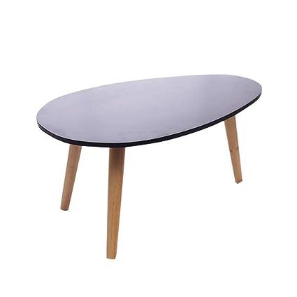 Amazon Com Oval Solid Wood Coffee Table Small Tea Multi Function