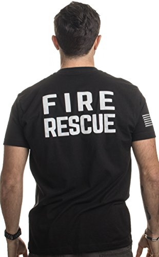 Fire & Rescue Maltese Cross | Firefighter Fire Courage Honor Men Women T-Shirt-(Adult,2XL) Black