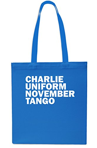 Charlie Uniform November Tango Tote Shopping Gym Beach Bag 42cm x38cm, 10 litrest-Small-Red Sapphire