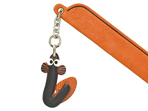 Eel Leather Charm Bookmarker VANCA Handmade in Japan