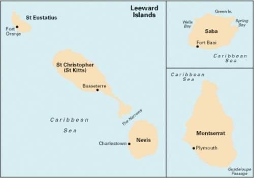 Imray Iolaire Chart A25: St Eustatius, St Christopher, Nevis, Monserrat and Saba