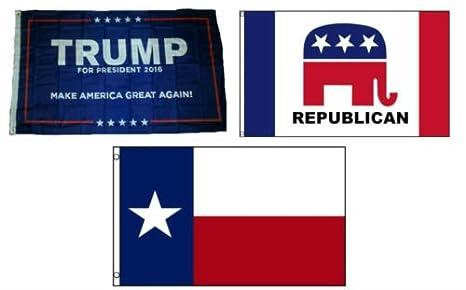 Amazon com : Moon 3x5 Trump #1 & Republican & State of Texas