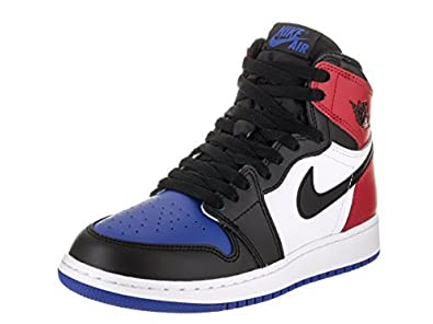 5fedf3003b66 Nike Air Jordan 1 Retro High Top 3 Pick OG BG LTD Sneaker Current Collection  Black White Blue red  Buy Online at Low Prices in India - Amazon.in
