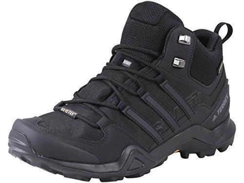 adidas Outdoor Terrex Swift R2 Mid GTX Mens Hiking Boots, (Black on Black on Black), Size 10