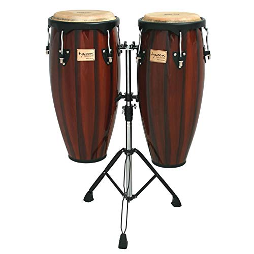 - Tycoon 10 & 11 CONGAS ARTIST HAND PAINTED SERIES BROWN REQUINTO DOUBLE STAND BOX 1 OF 2