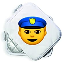 "Oven Gloves 24x19 ""Police officer"" Oven glove - Baking - Cooking - Heat protection - 2-pack - Smiley - Emoji- Christmas Gift"