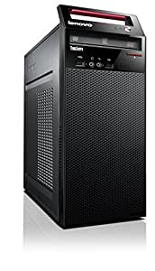 Lenovo 10AS00DFUS ThinkCentre E73 Tower Desktop, 4 GB RAM, 500 GB HDD, Intel HD Graphics 4600, Glossy Black