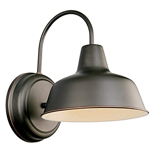 Outdoor gooseneck lighting amazon design house 519504 mason 1 light wall light oil rubbed bronze aloadofball Image collections