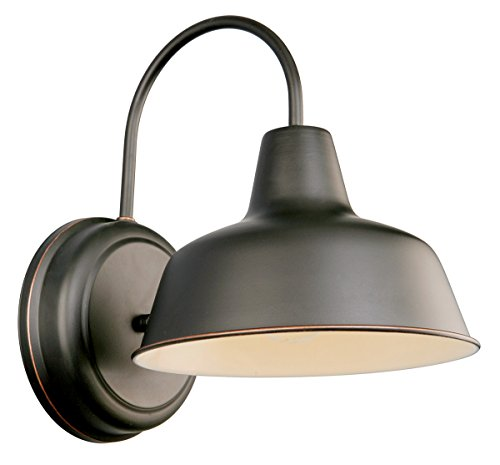 Design House 519504 Mason 1 Light Wall Light, Oil Rubbed Bronze (Bronze Exterior Wall Light Fixture)