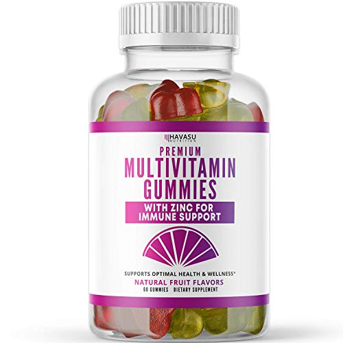 Havasu Nutrition Multivitamin Gummies for Men and Women with Vitamin A, C, D3, E, B6, B12, and Zinc, 60 Count (Adult)