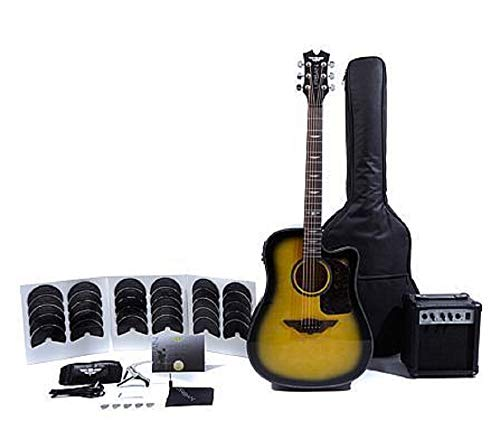 Keith Urban Acoustic-Electric Ripcord 40-piece Guitar Package – Brazilian Burst