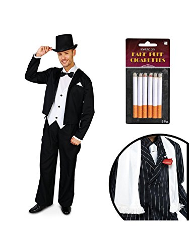 Great Gatsby 1920's Tuxedo Adult Costume Kit M/L - Great Gatsby Men Costumes
