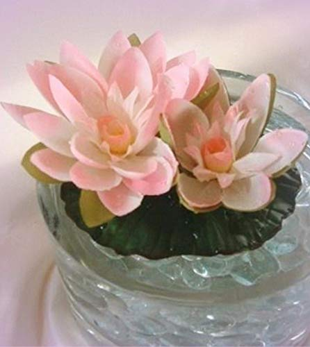 Wholesale Water Lilies - Inna-Wholesale Art Crafts New Floating Water Lily Cream Pink Pond Fountain Plant Lilies Silk Decorating Flowers - Perfect for Any Wedding, Special Occasion or Home Office D?cor