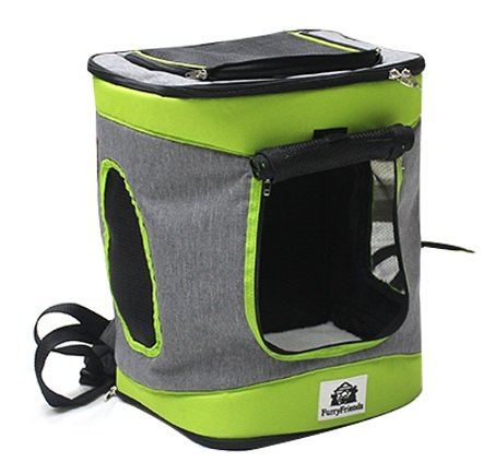 FurryFriends Soft Sided Pet Crate and Travel Carrier for Dogs and Cats (Pet Backpack)
