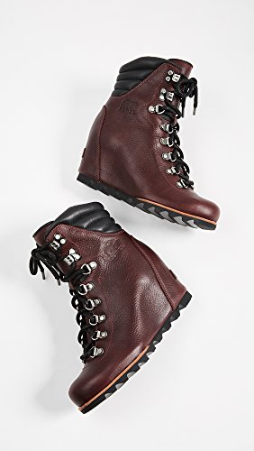 SOREL Conquest Women's Wedge Wine Rich Black Booties v80vrw