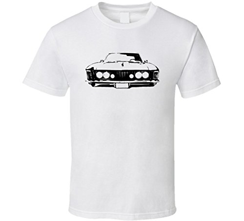 CarGeekTees.com 1964 Buick Riviera Grill View Light Color Shirt L White