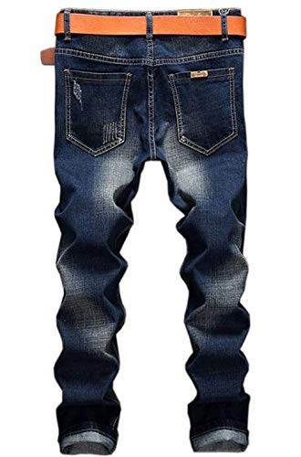Designer Distintivi Basic Youth Men Trend Especial Fit Indossato Regola Cotone Jeans Nne Blau Da Traspirante Retro Estilo Elastico Ige Straight Leisure Stile Jogging Uomo aqXw67pBn