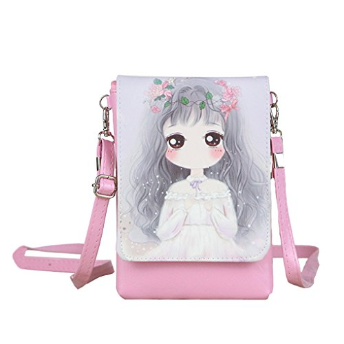 Teen Girls Students Fashion Shoulder Bag Cross Body Bags Small Cell Phone Holder Case Wallet Purse Cash Key Coin Pouches Clutch Handbag from Fakeface