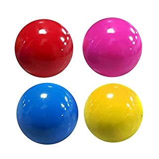 Yumfr Stress Reliefer Fluorescent Sticky Target Balls, Soft Ball Toys for Exercise and Stress Relief 1/3/5/10pcs