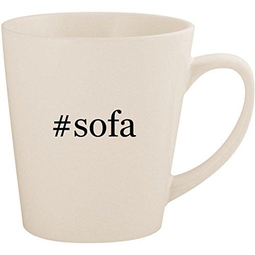 (#sofa - White Hashtag 12oz Ceramic Latte Mug Cup)