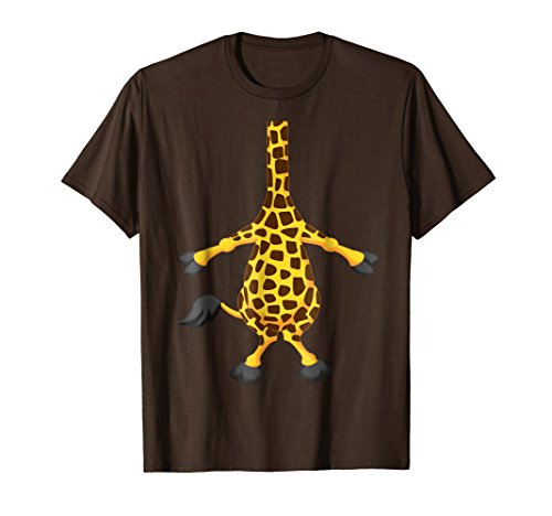 Mens Giraffe Halloween Costume Shirt Easy Funny Women Men Kids Medium Brown