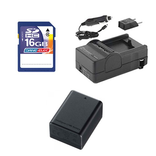 Canon VIXIA HF R62 Camcorder Accessory Kit includes: SDBP718 Battery, SDM-1556 Charger, SD4/16GB Memory Card by Synergy Digital