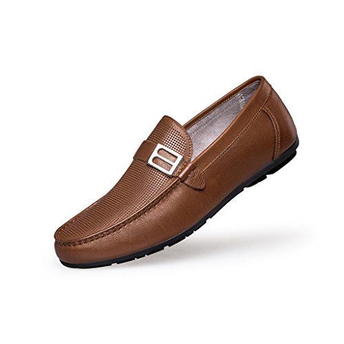 ZRO Men's Summer Casual Buckle Slip-On Hollow Breathable Brown US 8.5 by ZRO