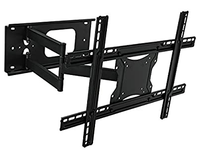 Mount-It! MI-345 Swivel Full Motion Articulating Tilting Low-Profile TV Wall Mount Corner Bracket for 32 - 65 inch Screen LCD LED Plasma 4K 3D Flat Panel Screen TV (VESA Standard up to 600x400mm)