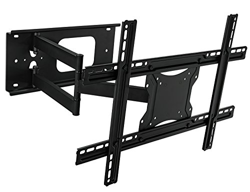 Mount-It! MI-345 Swivel Full Motion Articulating Tilting Low-Profile TV Wall Mount Corner Bracket for 32