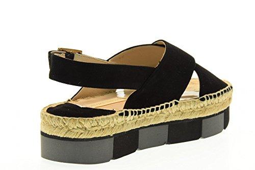 PALOMA BARCELO Zapatos de las sandalias LNCM SUK1 NEGRO