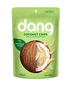 Dang Gluten Free Coconut Chips Toasted, Original, 3.17 Ounce Bags