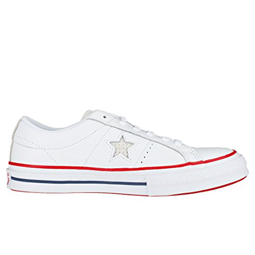 One Converse Unisex Shoe Red White Casual Ox White Gym Star RwBxw1qaS