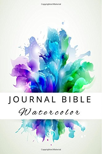 Journal Bible Watercolor: Blank Prayer Journal, 6 x 9, 108 Lined Pages