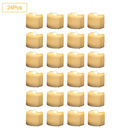 Micandle 24Pcs Warm Led Tea Candles,Battery Operated Led ...