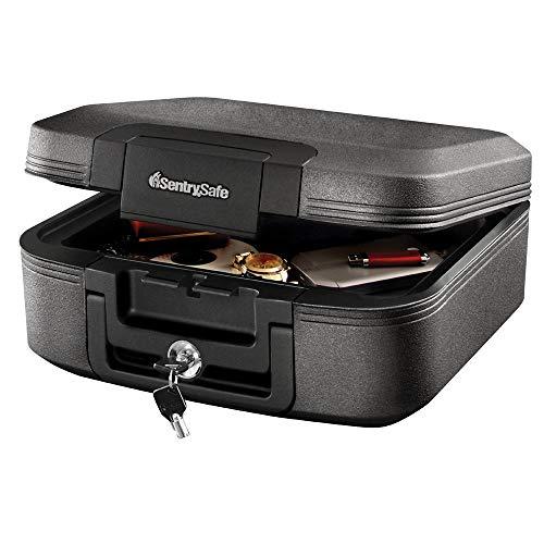 SentrySafe CHW20221 Fireproof Box and Waterproof Box with Key Lock 0.28 Cubic Feet (Renewed)