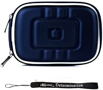 Navy Blue Eva Durable Protective Cover Cube with Mesh Pocket for Compact Sizes Fitted for Hewlett Packard Compact Digital Cameras