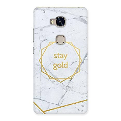 Marble Stay Gold Back Case Cover for Huawei Honor 5X: Amazon