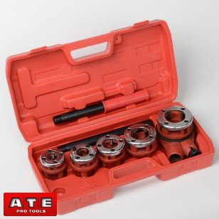 Pipe Threader Forward and Reversible Ratchet 5Pc Set Ratchet Pipe Threading Kit