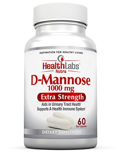 Health Labs Nutra D-Mannose 1,000mg - Fight Urinary Tract Infections & Promote a Healthy Bladder (30-Day Supply) 60 Gel Capsules