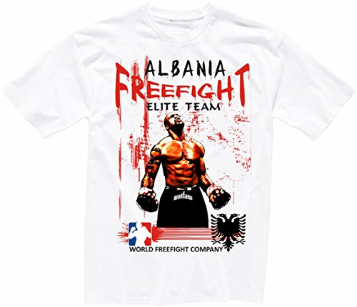 Albanien FREEFIGHT - MMA - Muay Thai Boxen - T-Shirt - 001